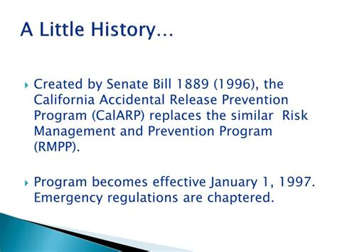california code of regulations title 25 section 42 ppt california accidental release prevention calarp