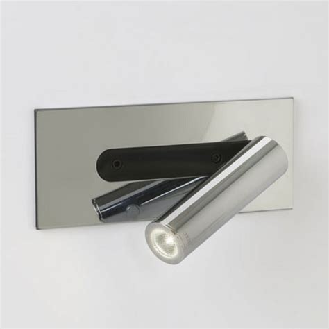 over bed wall light with integral led book light hotel chrome led book reading light for using over bed ideal