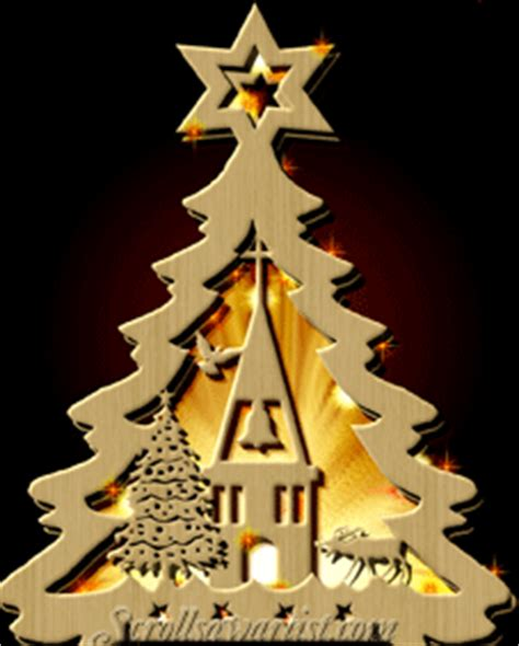 scroll saw patterns lighted projects trees church