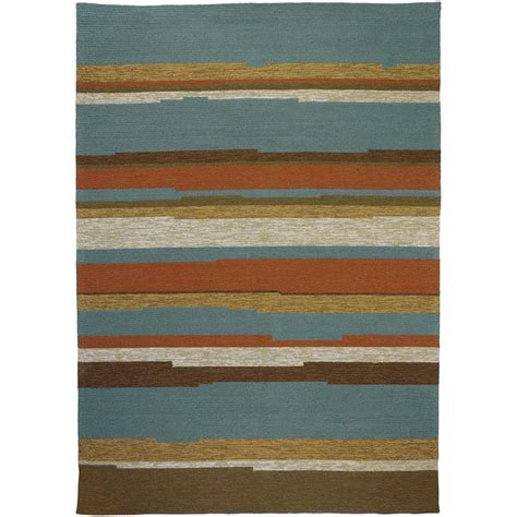 home fires rugs homefires tahitian stripe teal 3 ft x 5 ft indoor outdoor area rug pp hf037c the home depot