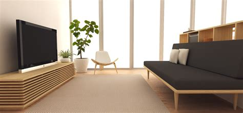 japanese minimalism minimalist tv console simple chair durable carpet and