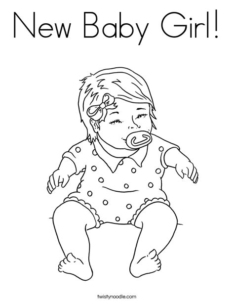 coloring pages new baby new baby girl coloring page twisty noodle