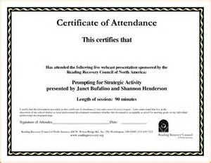 Certificate of attendance template receipt templates
