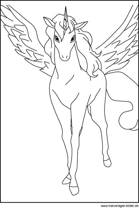 Kostenlose Vorlage Einhorn Pegasus Kostenlose Ausmalbilder Zum Ausdrucken