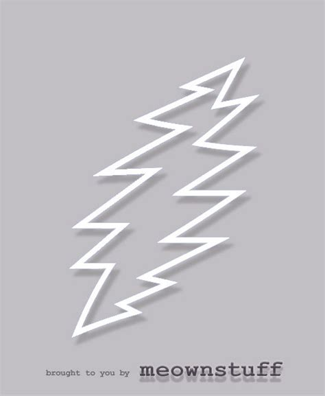 grateful dead lightning bolt drawing cliparts co