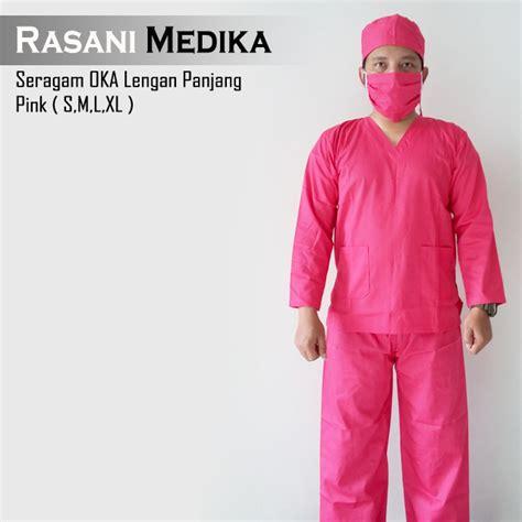 Baju Oka Operasi baju kamar operasi panjang baju ok pink rasani medika