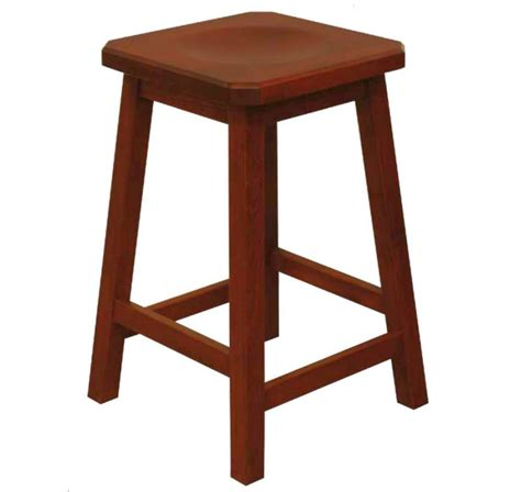Corner Bar With Stools by 24 Quot Mission Clipped Corner Bar Stool 9 Amish Oak