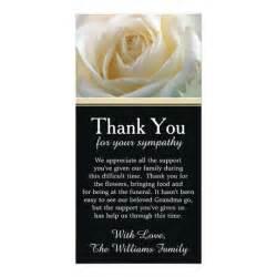 white bereavement sympathy thank you card zazzle