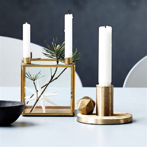 Candle Stands by Square Brass Candle Stand By All Things Brighton Beautiful