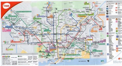 barcelona zone 1 map public transportation barcelona guide