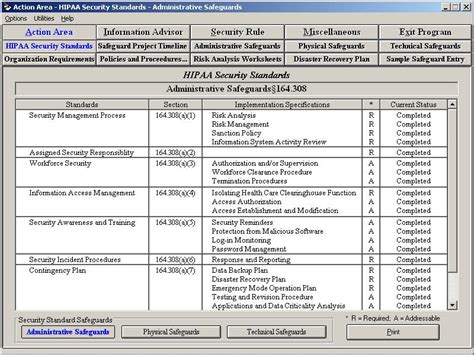 hipaa security rule assistant 8 1 screenshots