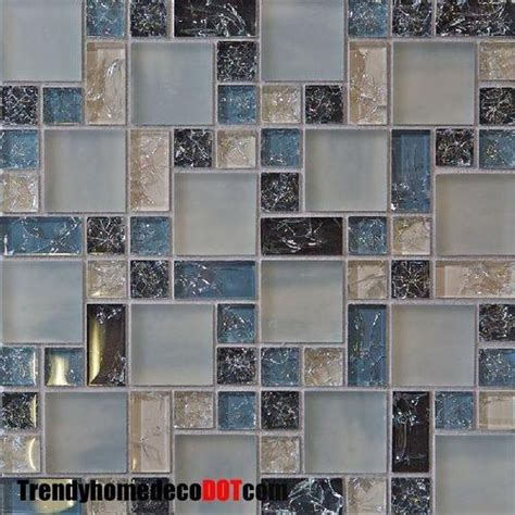 blue glass backsplash tile blue crackle glass mosaic tile tile backsplash ideas