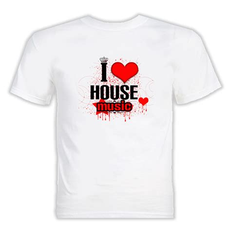 i heart house music i love heart house music t shirt
