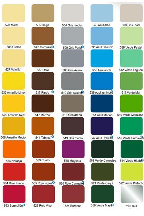 carta de colores interior recuplast interior carta de colores
