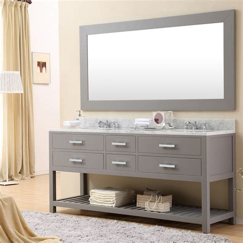 Cadale 72 Inch Gray Finish Sink Bathroom Vanity One
