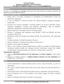 Dynamics Ax Developer Sle Resume by Resume Pavan