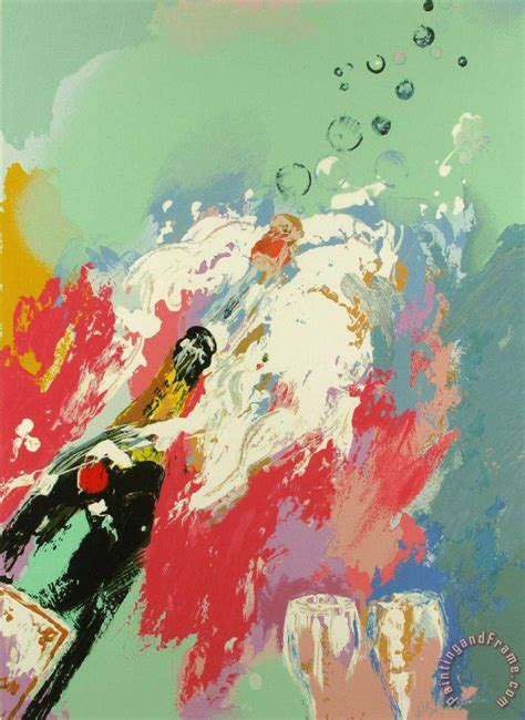 painting for new year leroy neiman chagne new years painting chagne