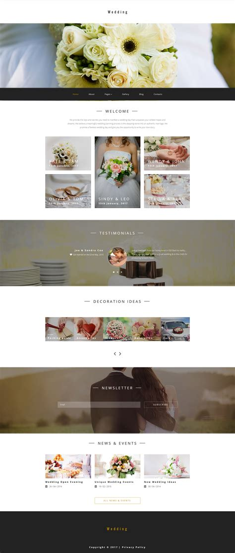 joomla wedding template wedding planner joomla template