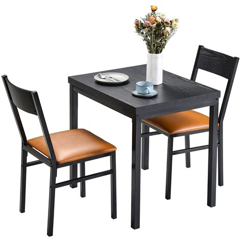 piece dining table set  cushioned chairs  dining