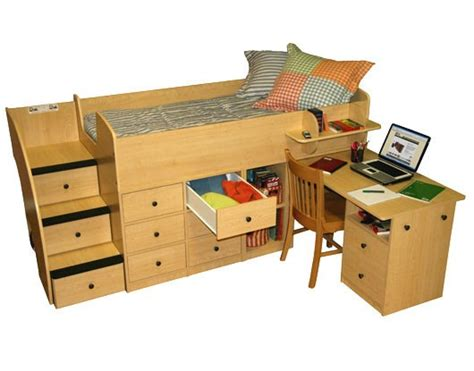 bunk bed with desk and stairs low loft bed with pull out