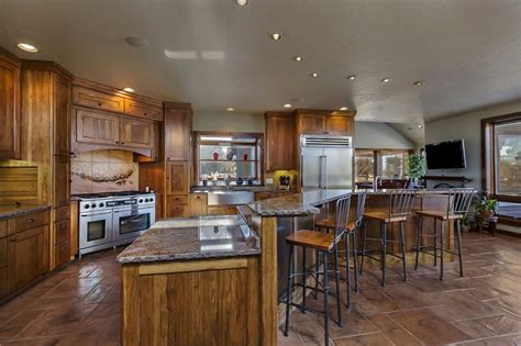 hickory cabinets with granite countertops magnificent bend oregon estate with cascade mountain