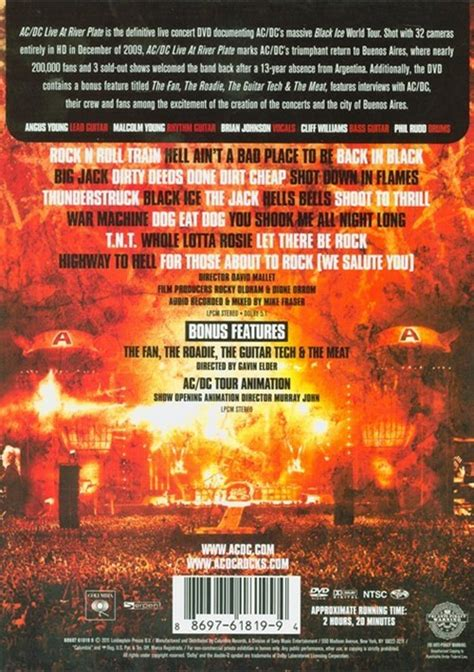 amazoncom acdc live at river plate blu ray acdc ac dc live at river plate dvd 2009 dvd empire