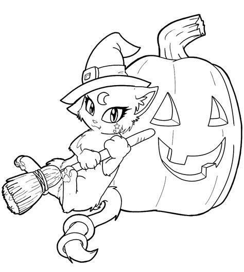 cute witch coloring page free witch coloring pages icolor quot little kids halloween