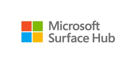 surface hub logo (stacked/gray) | stories