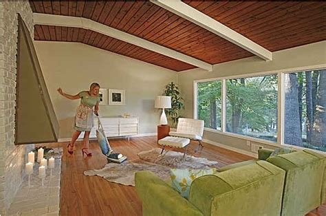 Vacuum Living Room In Staging A Mid Century Modern House The Don Draper Way
