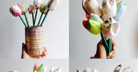 wabe project langkah mudah bikin bunga tulip  kain perca