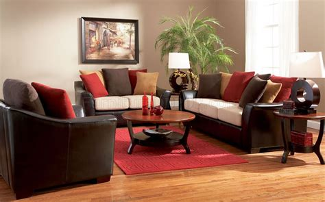 Two Tone Contemporary Living Room Sofa W Multi Color Pillows Two Sofa Living Room