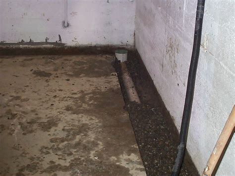 basement drainage solutions interior foundation footing drain for basement allied