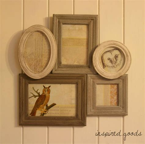 wall hanging vintage distressed wooden multi photo picture frame shabby chic ebay