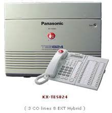 Pabx Panasonic Kx Tes824 3 Line 8 Ext Switching Telephone 1 paket pabx baru murah jasa pasang jual beli pabx