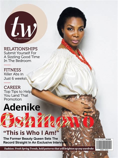 quot this is who i am quot former nike oshinowo covers tw magazine s april 2013 issue