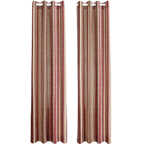 Striped Jamie Curtain Panel By Collections Etc Ebay