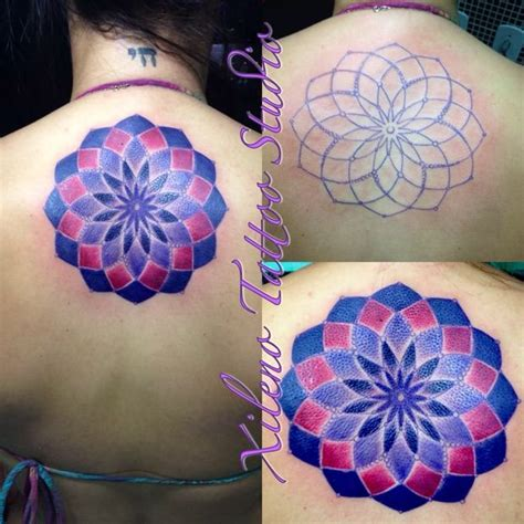 Tattoo Mandala Colorida | mandala colorida nas costas tatuagem com tatuagens tattoo