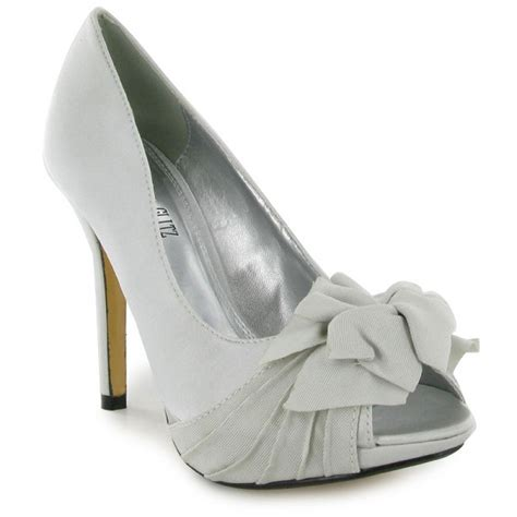 Silver Wedding Shoes For Bridesmaids by Silver Satin Bridesmaid Shoes Platform Wedding Shoes By