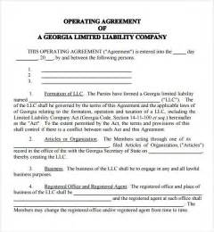 Llc Partnership Agreement Template Free Operating Agreement 7 Free Pdf Doc Download