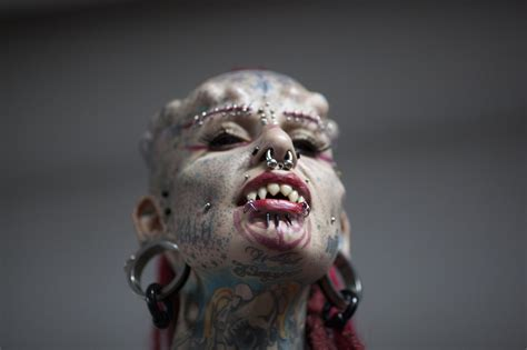 expo tattoo venezuela 2015 youtube extreme body modifications at tattoo expo aol news