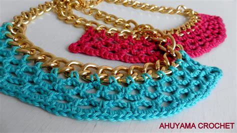 imagenes de cuellos a crochet imagui ahuyama crochet collar tejido en cadena pontejos