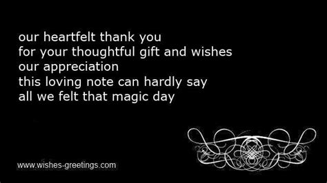 thank you poems for wedding gifts thank you wedding wording notes for thanks marriage cards