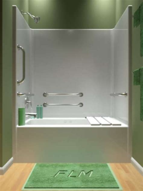 piece handicap tub shower combo  whirlpool