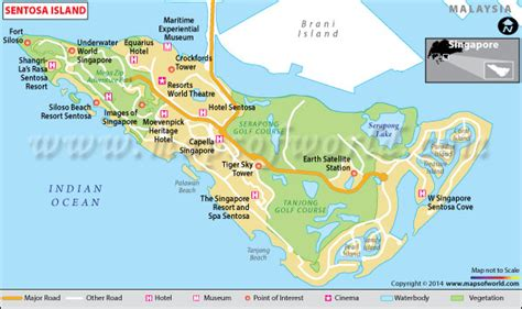 siloso resort location map sentosa island singapore map facts location best
