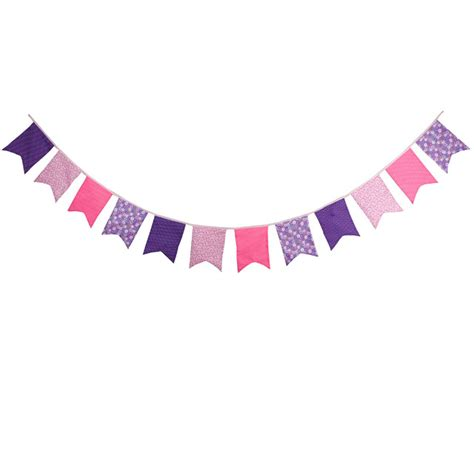 aliexpress buy new 12 flags pink purple bunting