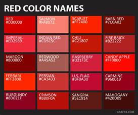 shades of red list red color name list www imgkid com the image kid has it