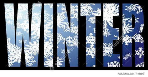 Illustration Of Winter Text Free Clip Art Christmas Words
