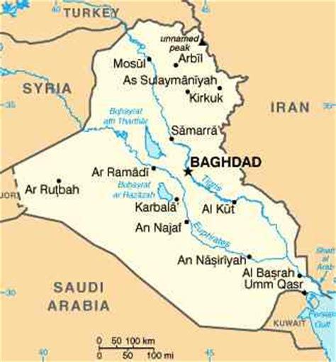 baghdad map world baghdad iraq