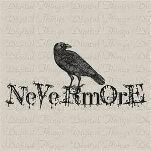 halloween gothic grunge edgar allan poe the raven bird