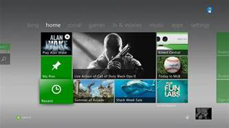 xbox home using the recent tile on xbox home xbox 360 console